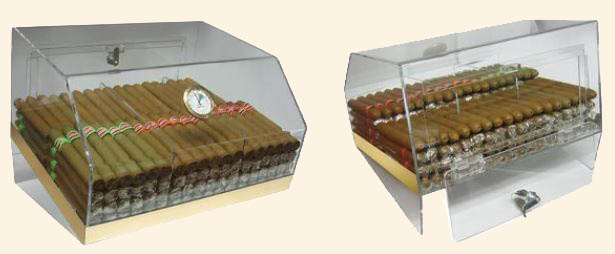 The Laurence Acrylic Countertop Humidor...75 Ct.
